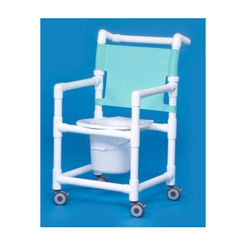 products shower commode chair with arms pvc mesh backrest mon911135